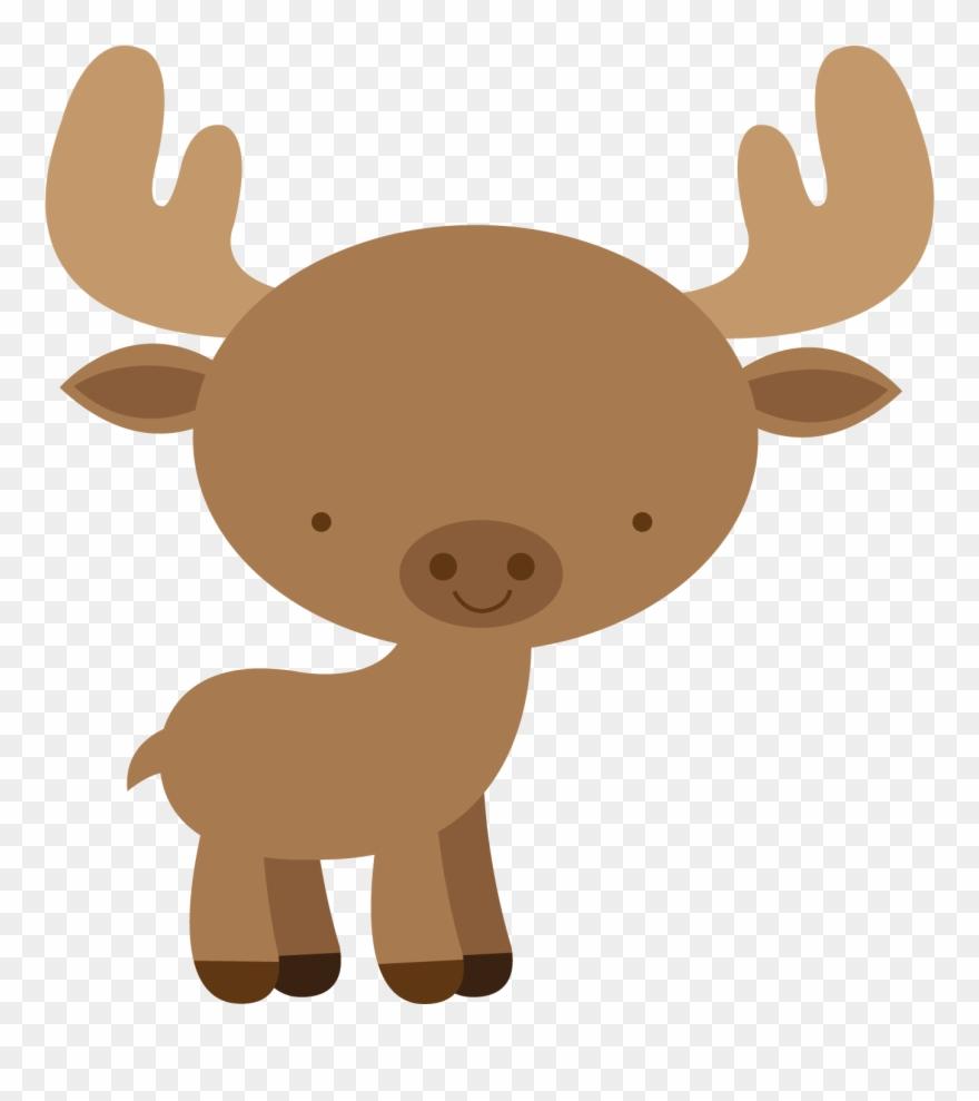 Animals clipart moose vector library stock Floresta E Safari 3 Moose Png Minus Clipart - Baby Moose Clip Art ... vector library stock