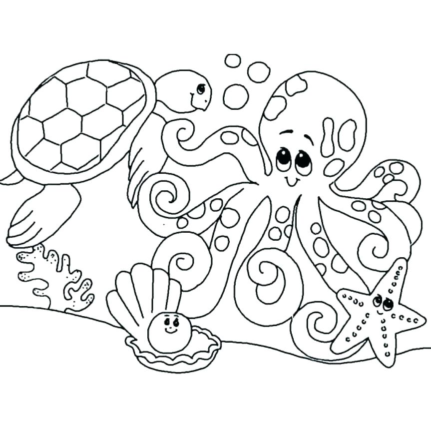 Animals coloring page clipart svg royalty free stock sea animals coloring page – interesantecosmetice.info svg royalty free stock