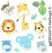 Animals cute clipart clip art Baby Animal Clip Art - Royalty Free - GoGraph clip art