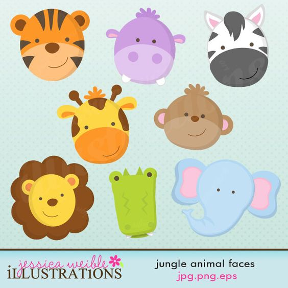 Animals cute clipart for printables image freeuse download cute animal clip art images | Illustrations & Cliparts - Jungle ... image freeuse download