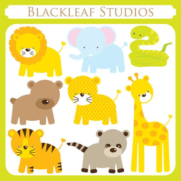 Animals cute clipart for printables banner freeuse library 17 Best images about CLIPART on Pinterest | Jungle animals, Clip ... banner freeuse library