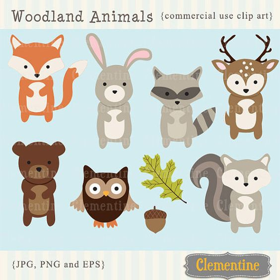 Animals cute clipart for printables svg free stock Woodland Animals clip art images, fox clip art, fox vector ... svg free stock