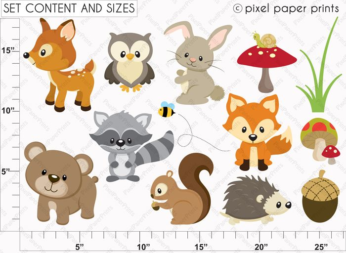 Animals cute clipart for printables picture transparent stock 17 Best ideas about Woodland Animals on Pinterest | Woodland ... picture transparent stock