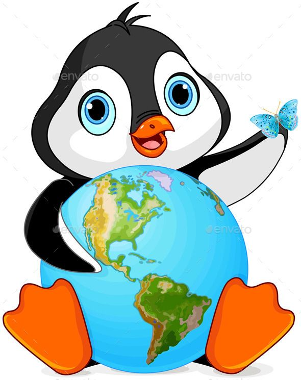 Animals earth clipart freeuse stock Penguin Earth Day | Penguins | Penguins, Stickers, Car bumper stickers freeuse stock
