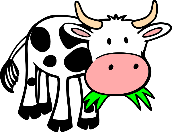 Animals eating clipart svg transparent library Cow Clip Art | Cow Eating Grass clip art | DIY | Cartoon cow, Baby ... svg transparent library