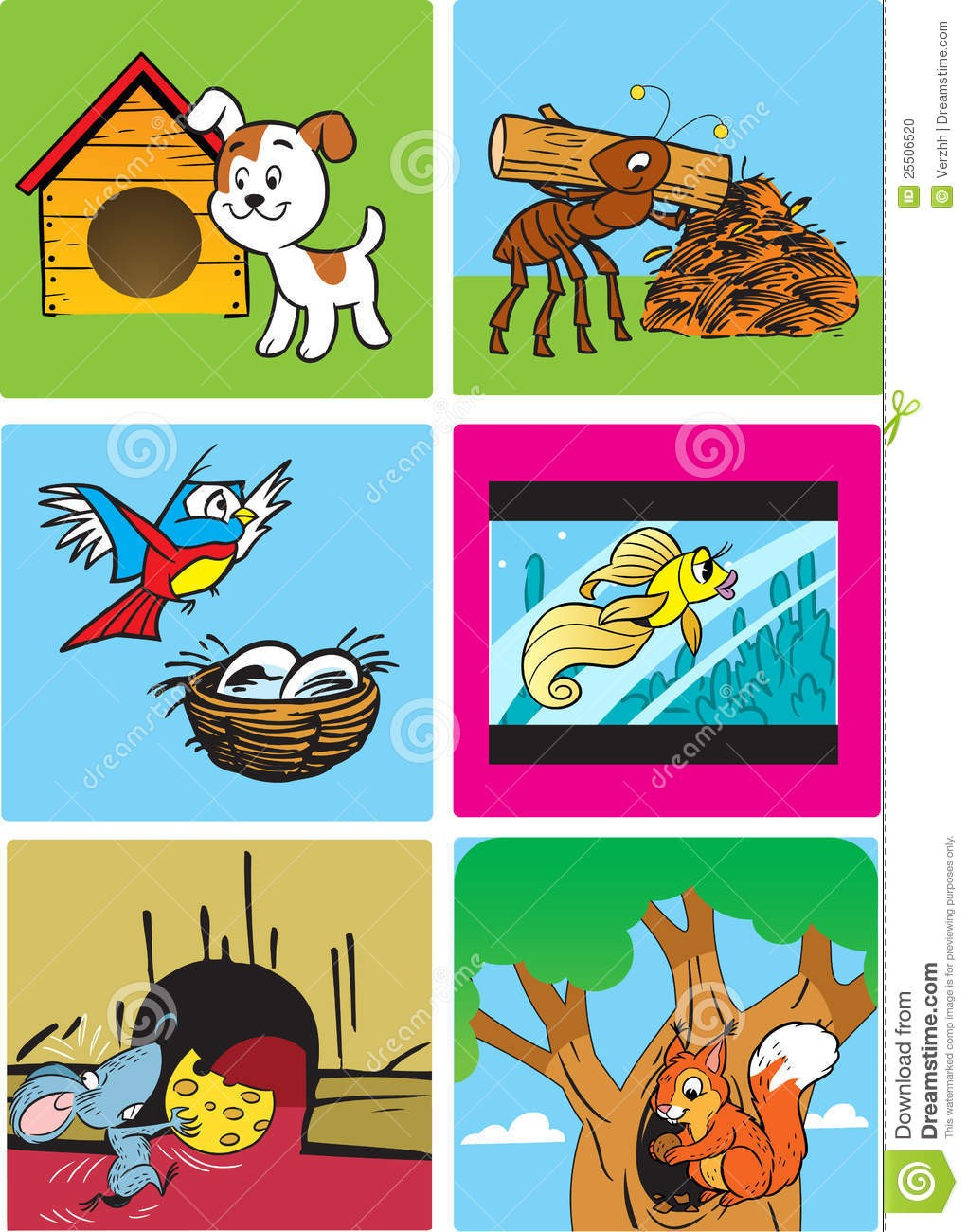Animals homes clipart clipart free On Animals And Their Homes Clipart Animal 25506520 | Clip Art clipart free