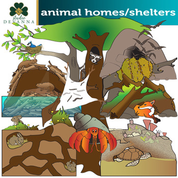 Animals homes clipart png library library Animal Homes and Shelters Clip Art png library library