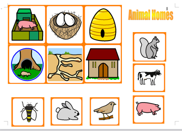 Animals homes clipart svg library library Animal Homes / Habitat Resources | Fearas Scoile svg library library