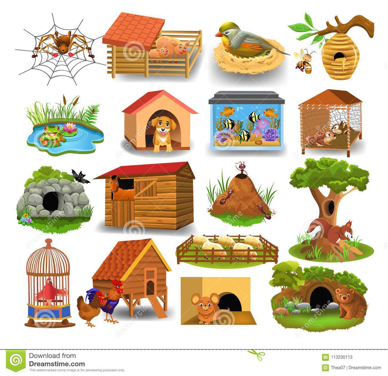 Animals homes clipart royalty free library Homes of animals clipart 7 » Clipart Portal royalty free library