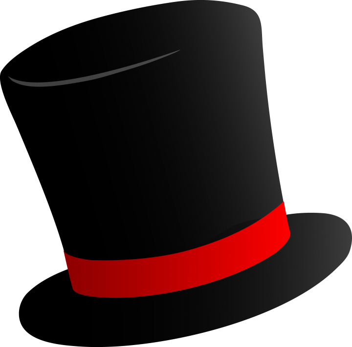 Top hat clipart blue ribbon png freeuse library Top hat hat clipart free download clipart animals clipart borders ... png freeuse library