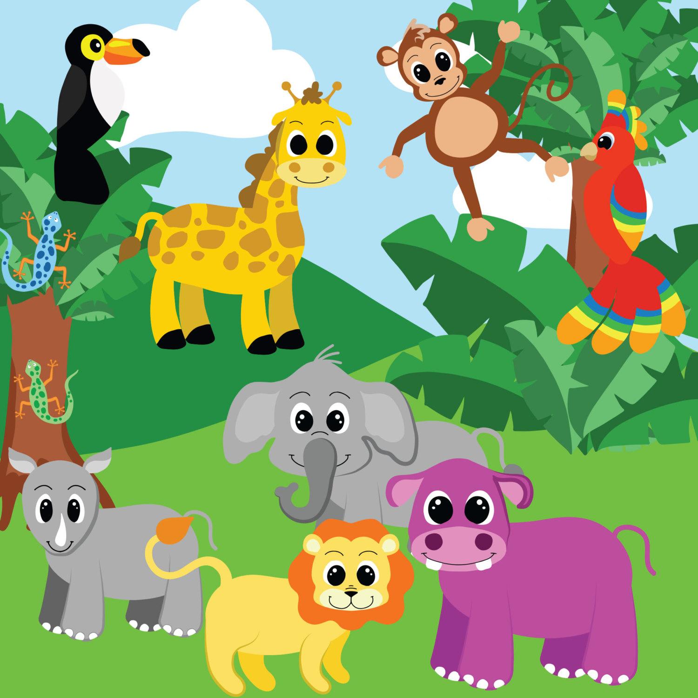 Jungle clipart free transparent download Jungle animals clipart, Jungle | Clipart Panda - Free Clipart Images transparent download