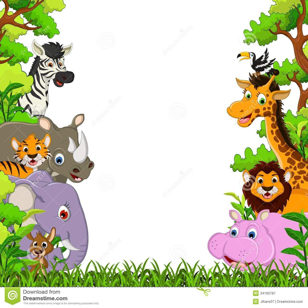 Free clipart animals cartoon graphic transparent download Image for Free Jungle Animal Clipart Cartoon Images Cute Animal ... graphic transparent download