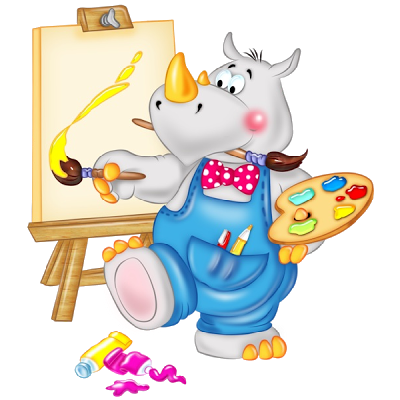 Animals in school clipart svg transparent download Cute Animals Painting - School Funny Images | Preschool | Animal ... svg transparent download