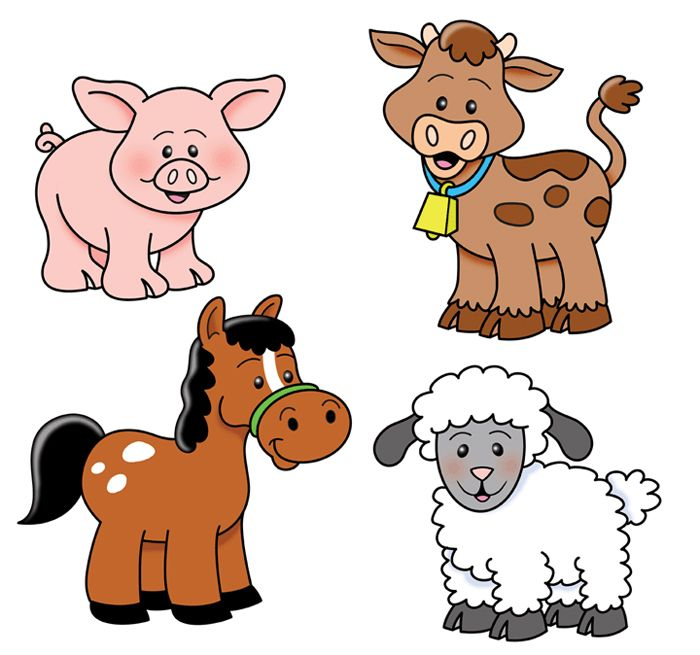 Cute farm animal clipart picture royalty free download Farm Animals | Cows, Goats... | Barn animals, Farm animals pictures ... picture royalty free download