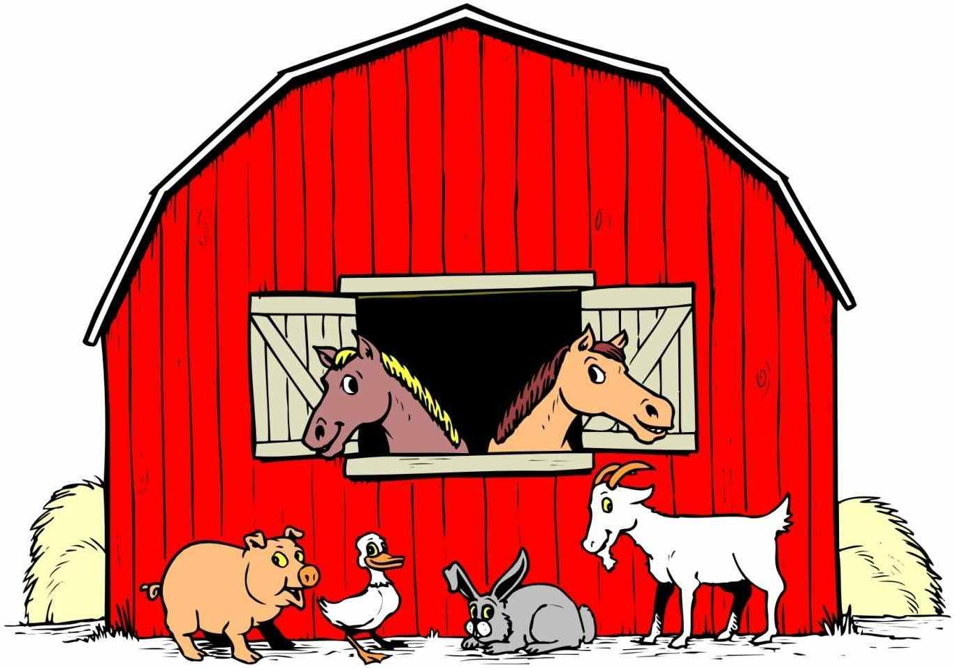 Animals in the barn clipart svg free Top Barn Animal Clip Art Library ~ Vector Images Design svg free