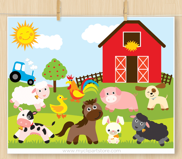 Clipart of farm animals graphic freeuse stock Farm Animals Clipart graphic freeuse stock