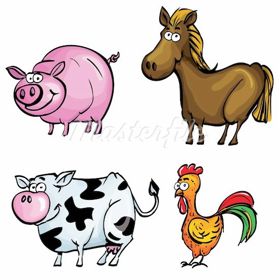 Animals in the barn clipart picture royalty free library Cartoon Barn Animals Clipart - Free Clipart picture royalty free library