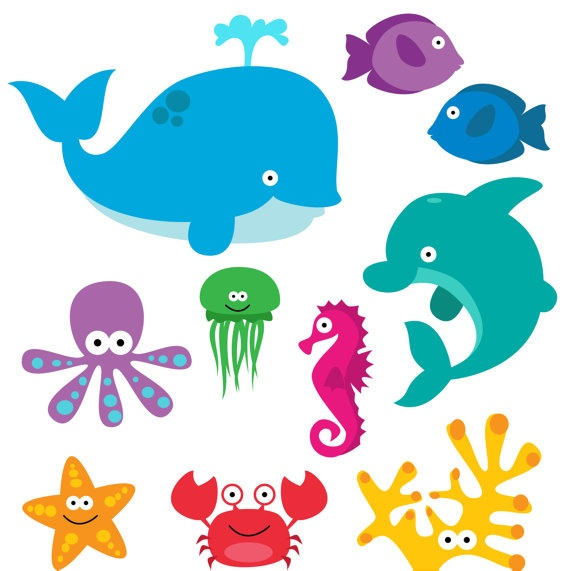 Animals in the coean clipart clip library stock 89+ Ocean Animals Clip Art | ClipartLook clip library stock