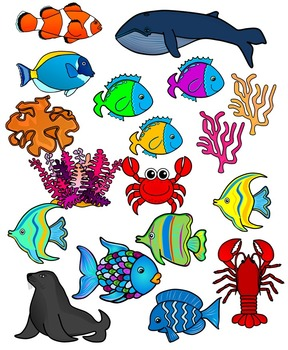 Animals in the coean clipart banner library Sea Life, Sea Animals, Ocean Animals Clipart Graphics-171 images-Commercial  Use banner library