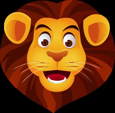 Animals lion face clipart