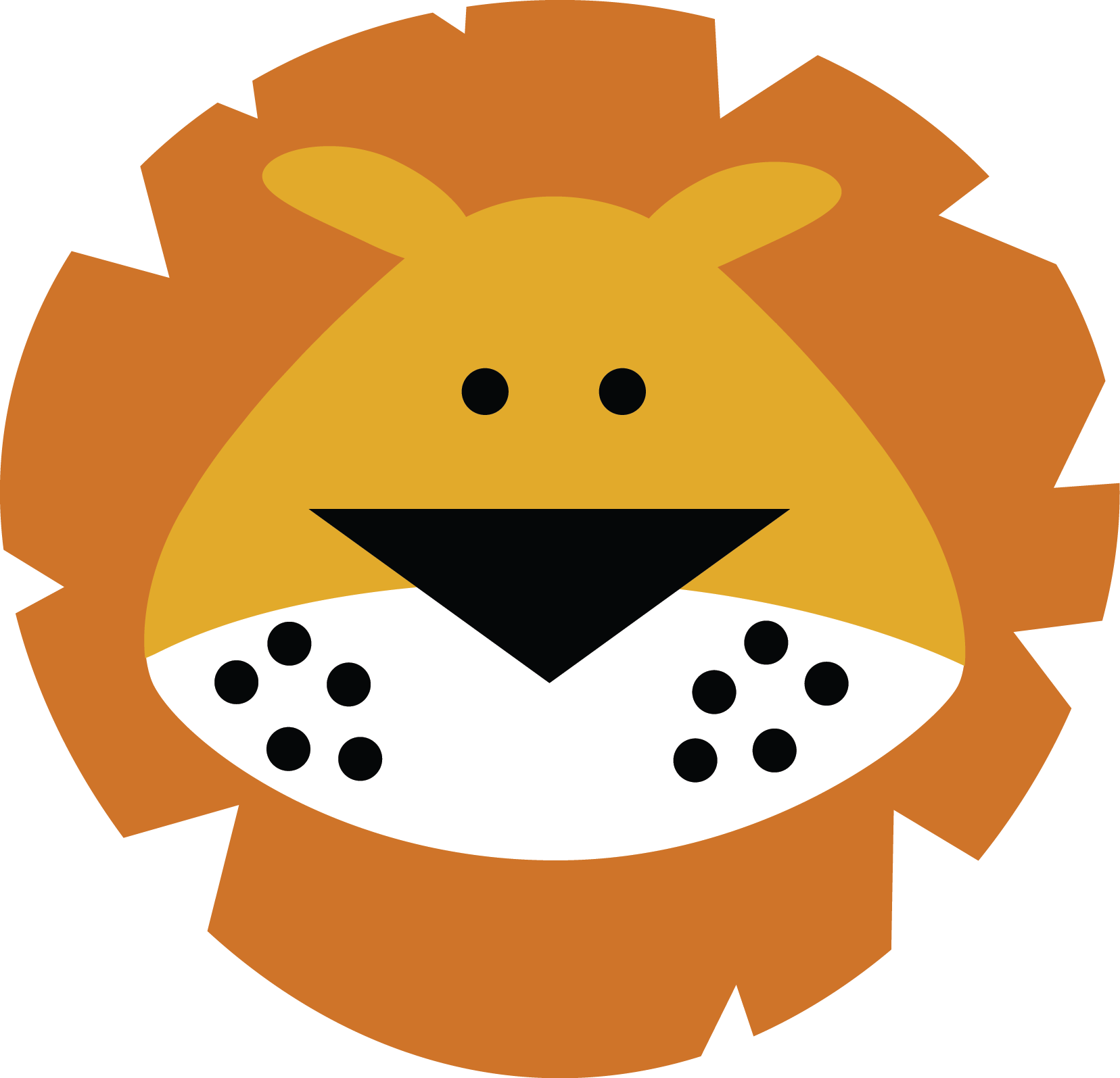 Free cartoon faces clipart png black and white library lion face (MISS KATE CUTTABLES) | scrapbook animals | Lion ... png black and white library