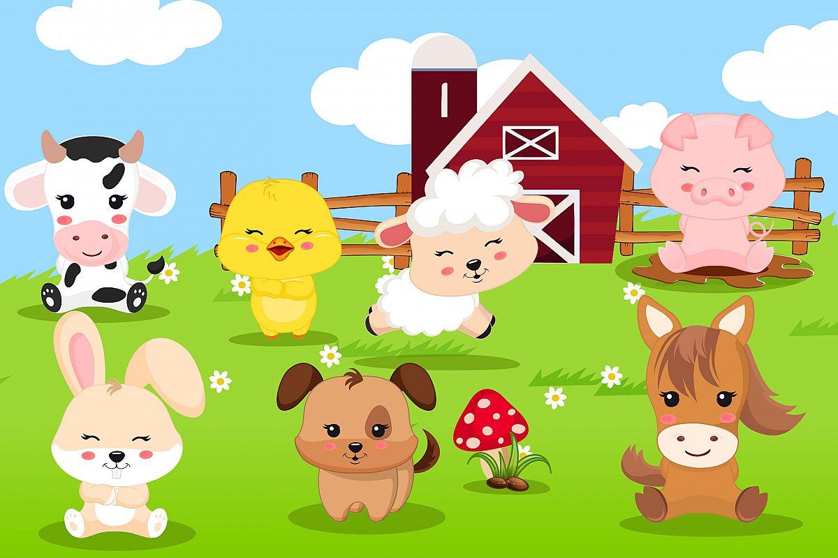Clipart of farm animals image library Farm animal clipart, Farm animal graphics image library