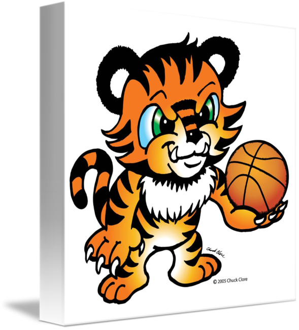 Animals playing basketball clipart png black and white stock Tiger Basketball by Chuck Clore png black and white stock
