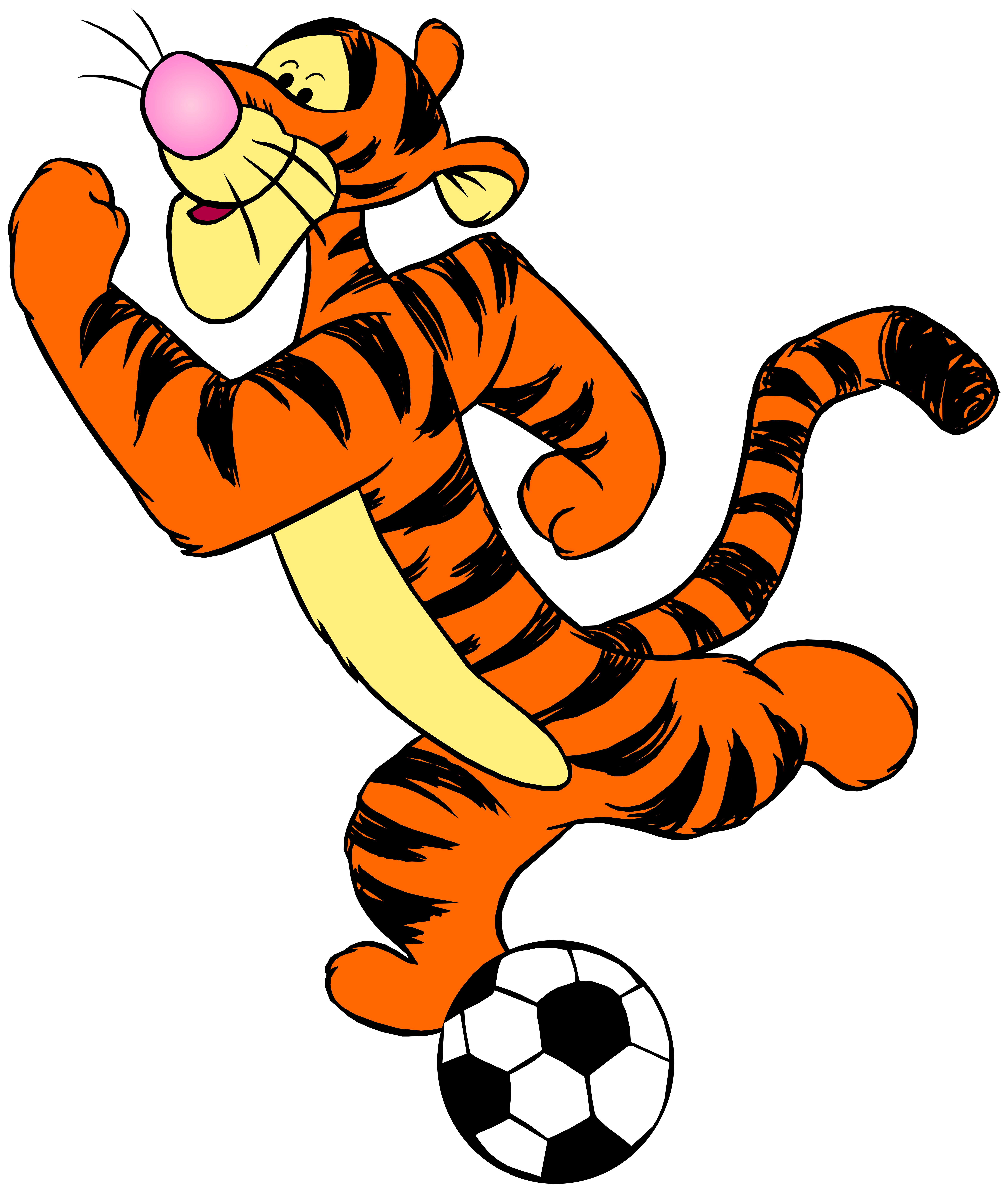 Football with ribbon clipart image transparent stock Tigger with Football PNG Clip Art - Best WEB Clipart image transparent stock