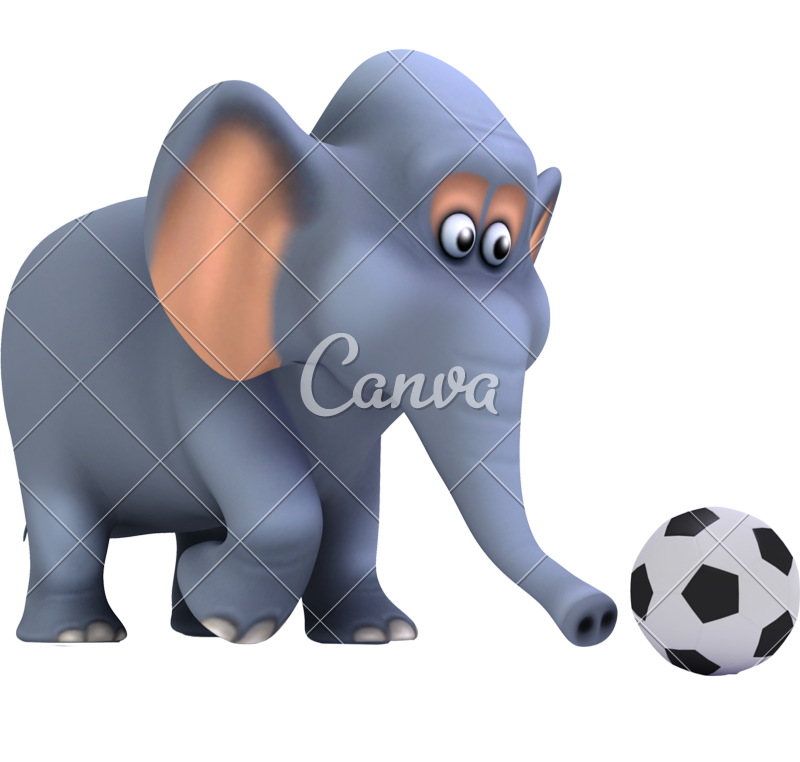 Animals playing football clipart clip royalty free download 3d Football Elephant - Photos by Canva clip royalty free download
