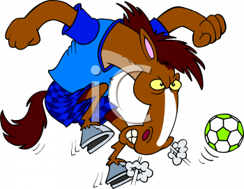 Animals playing soccer clipart svg freeuse library Clip Art Picture Of A Cartoon Horse Playing Soccer - AnimalClipart.net svg freeuse library