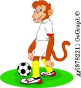 Animals playing soccer clipart jpg royalty free library Cartoon Animals Play Soccer Clip Art - Royalty Free - GoGraph jpg royalty free library