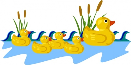 Animals swimming clipart vector royalty free Rubber Duck Family Swimming clip art clip arts, free clip art ... vector royalty free