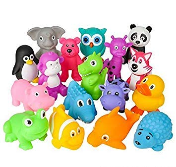 Animals that make high pitched sounds clipart jpg library 96 Pc 6-9\' Rubber Animal with Sound Mix, Case of 1: Amazon.in ... jpg library