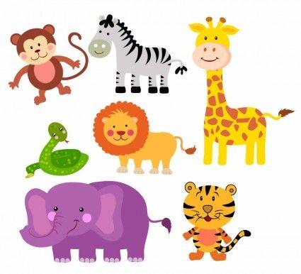 Animals zoo clipart graphic stock Safari Animals | things for cards | Baby zoo animals, Safari animals ... graphic stock