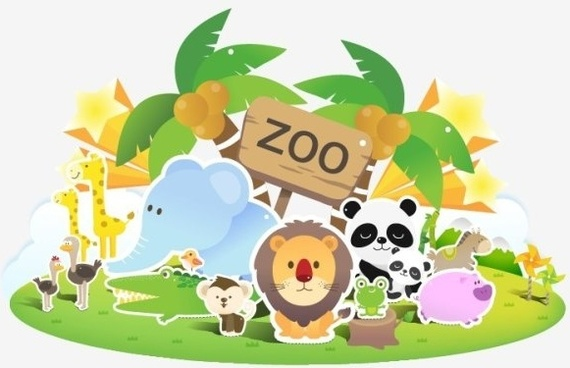 Animals zoo clipart clipart royalty free download Free clipart of zoo animals free vector download (11,440 Free vector ... clipart royalty free download