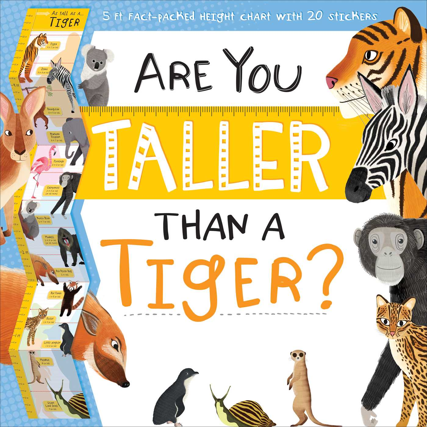 Animalstaller than clipart vector royalty free stock Are You Taller Than a Tiger | Book by Igloo Books | Official ... vector royalty free stock
