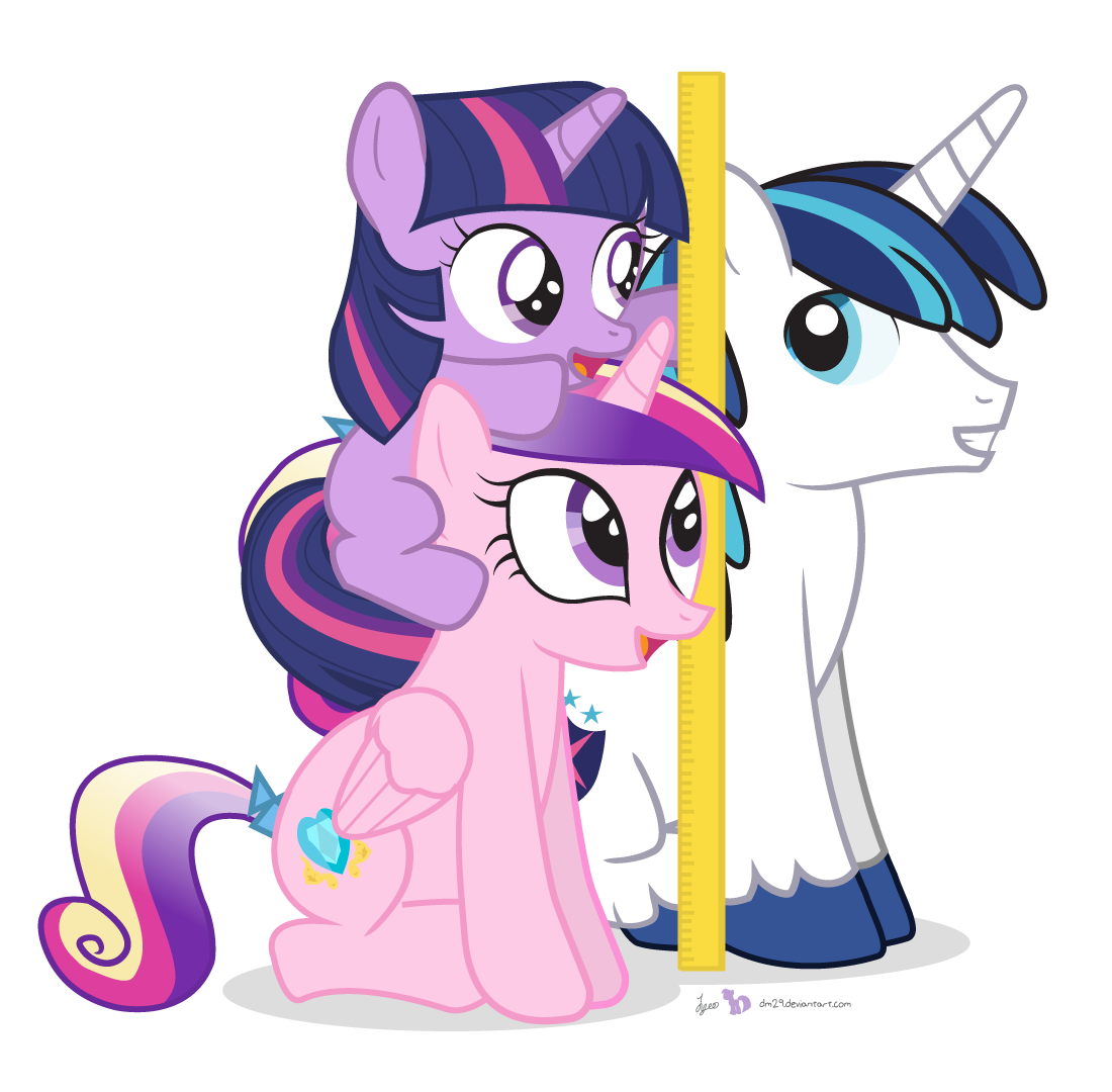 Animalstaller than clipart clipart free stock We\'re Taller Than Shining Armor! | My Little Pony: Friendship is ... clipart free stock