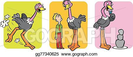 Animalstaller than clipart clipart library library Vector Art - Ostrich. EPS clipart gg77340625 - GoGraph clipart library library