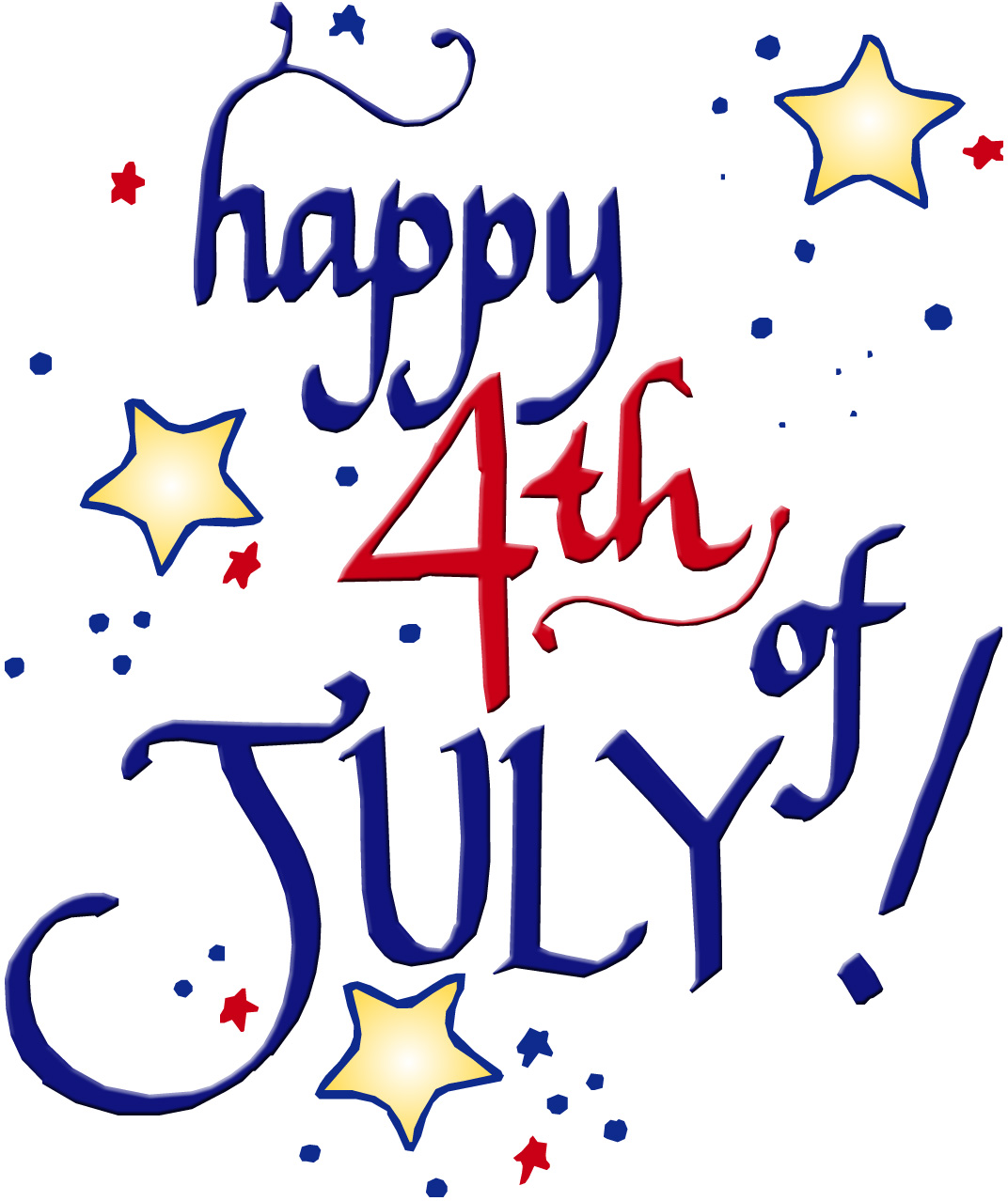 Happy birthday 4th of july clipart
