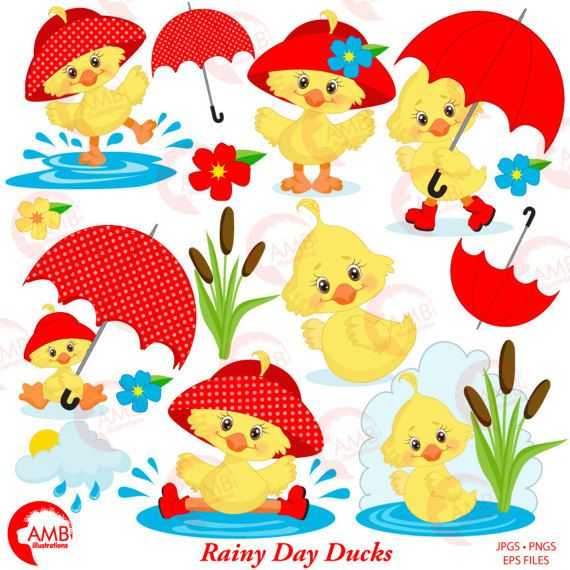 Animated april showers clipart png library download Duck Clipart, Umbrella Clipart, Spring Clipart, April Showers ... png library download