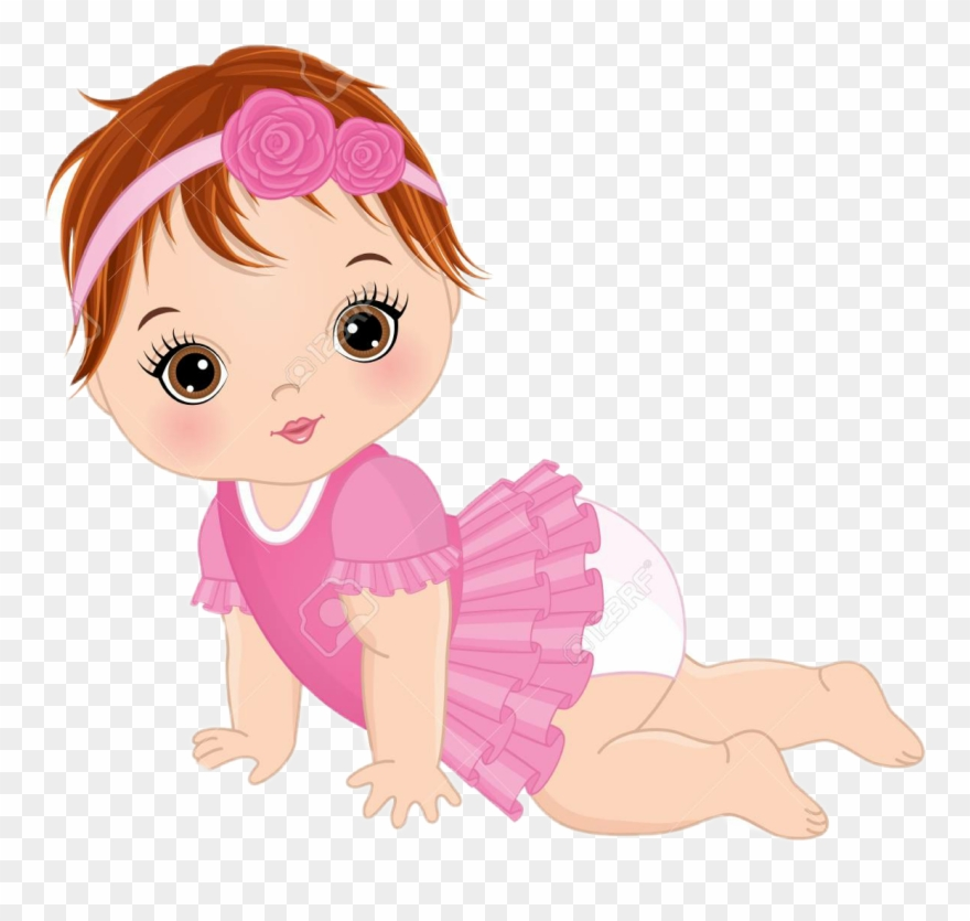 Animated baby girl clipart graphic freeuse Cute Baby Girl Vector Clipart (#1284305) - PinClipart graphic freeuse