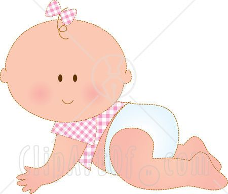 Baby girl mitens clipart