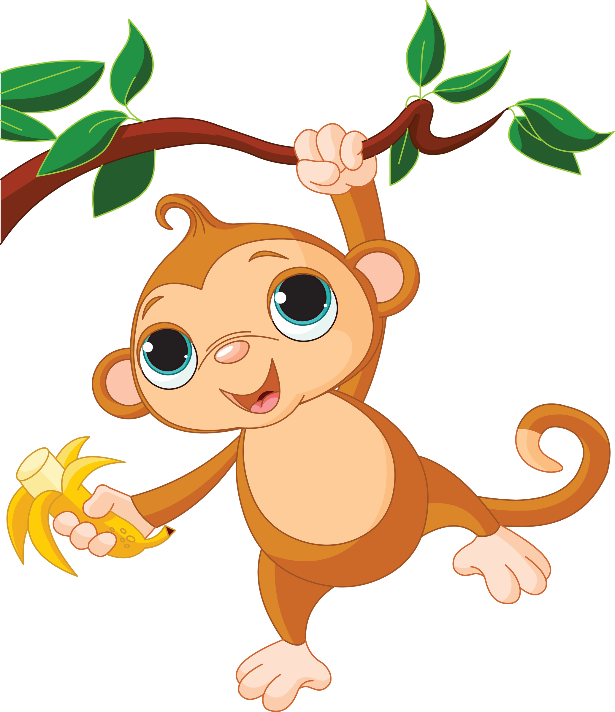 Animated baby monkey clipart png royalty free library Baby Monkeys Clip art - monkey png download - 2072*2400 - Free ... png royalty free library