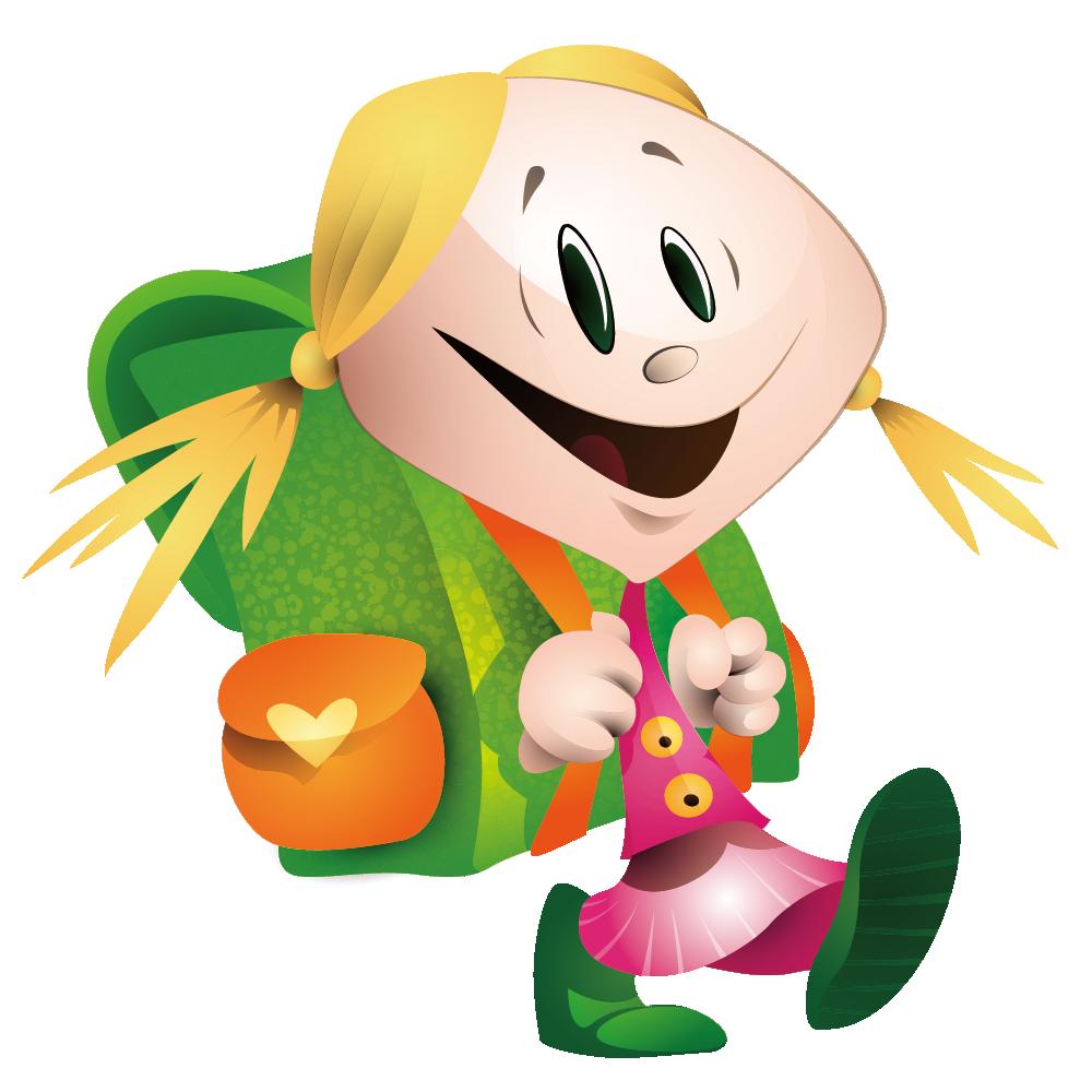 Animated back to school clipart jpg stock Animation School Child Clip art - Back big bag girl 1000*1000 ... jpg stock