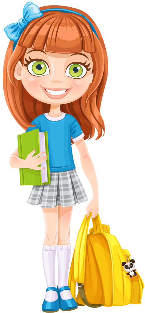 Girl going to school clipart banner library download shutterstock_210275239 [преобразованный].png | Pinterest | Clip art ... banner library download