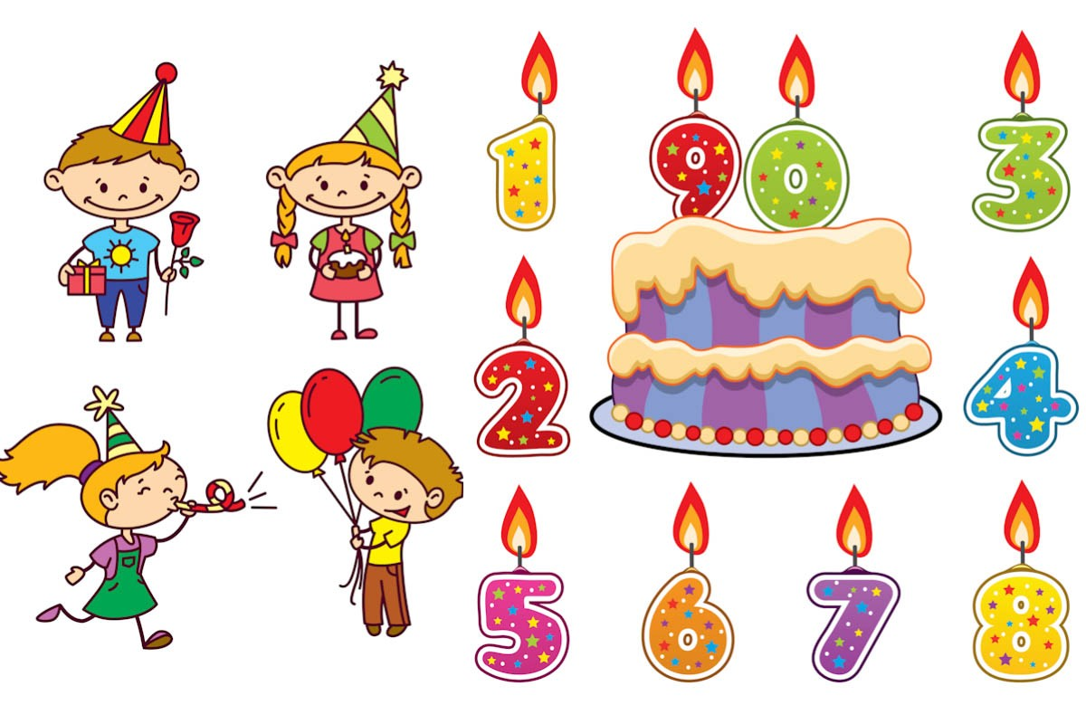 Animated birthday clipart free. Kid for him happy