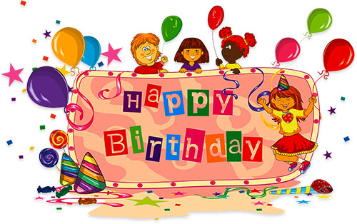 Animated birthday clipart free. Animations party for kids