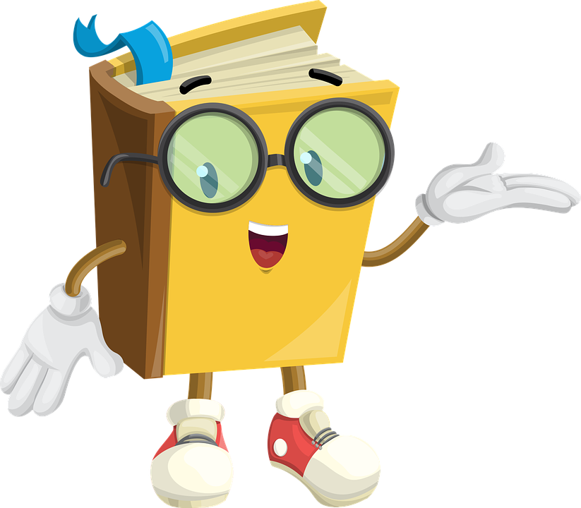 Book with glasses clipart graphic transparent library GIFS DIVERTIDOS | Nene by Karoline | Pinterest | Book characters ... graphic transparent library