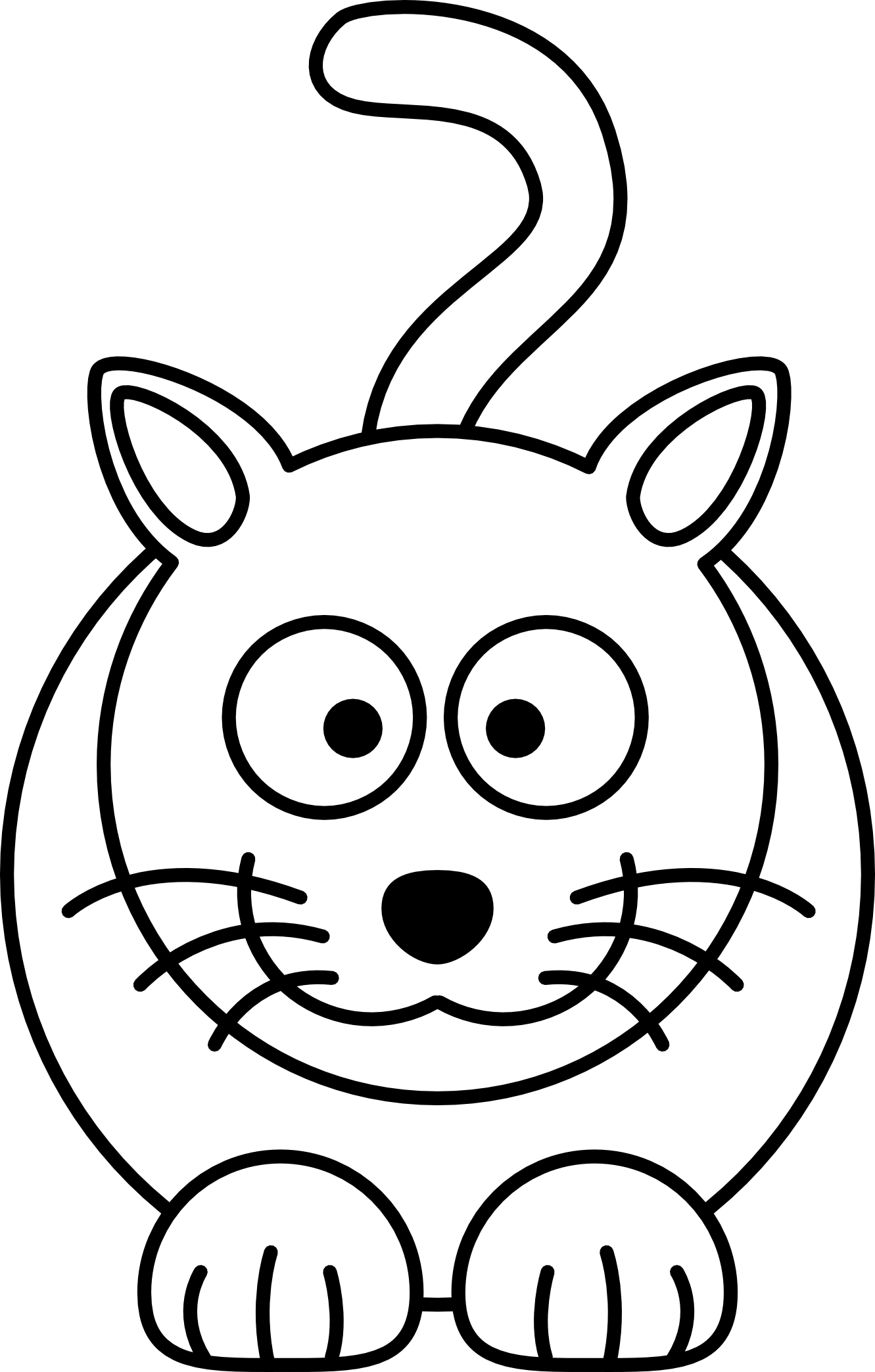 Free black and white pete the cat clipart svg royalty free stock Animated Cat Drawing at GetDrawings.com | Free for personal use ... svg royalty free stock