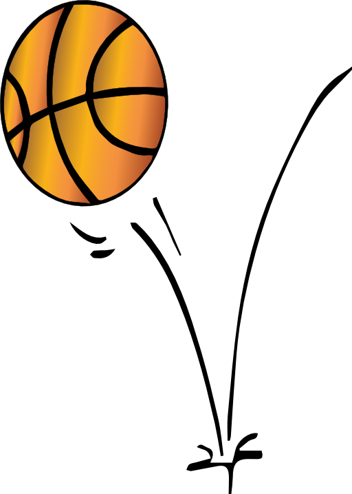 Passing basketball clipart graphic transparent stock 28+ Collection of Bouncing Basketball Clipart | High quality, free ... graphic transparent stock